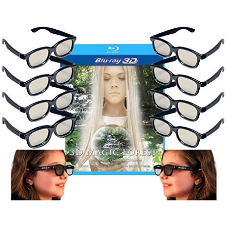 Family Adult and Kids 3D Glasses Pack for LG, SONY, Vizio and all other Passive 3D TVs also for use in Real-D Theaters - 10 Pairs of Circular.., By 3DHeaven ()
