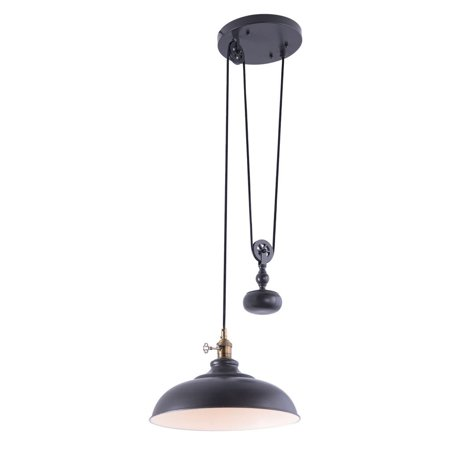 Aztec Lighting  Industrial 1-light Olde Bronze Pendant
