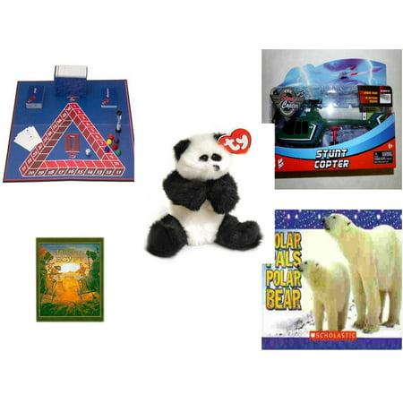 Polar Bear Game (Children's Gift Bundle [5 Piece] -  Go Mental  - Kidz Tech The Stunt Copter Aerobatics Helecopter  - Ty Attic Treasures Checkers the Black and White Panda Bear)