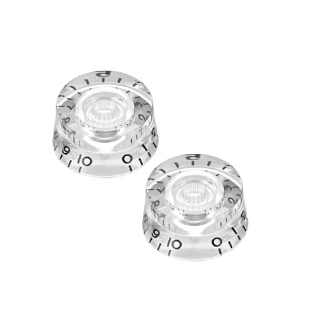 Electric Vintage Guitar Knobs (2pcs, Clear 6mm Potentiometer Control Knobs For LP Electric Guitar Acrylic Volume Tone)