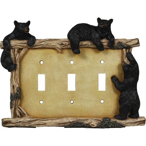 Rivers Edge Products Bear Triple Switch Plate Cover