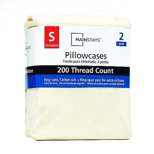 Mainstays 200-Thread Count Pillowcase Set