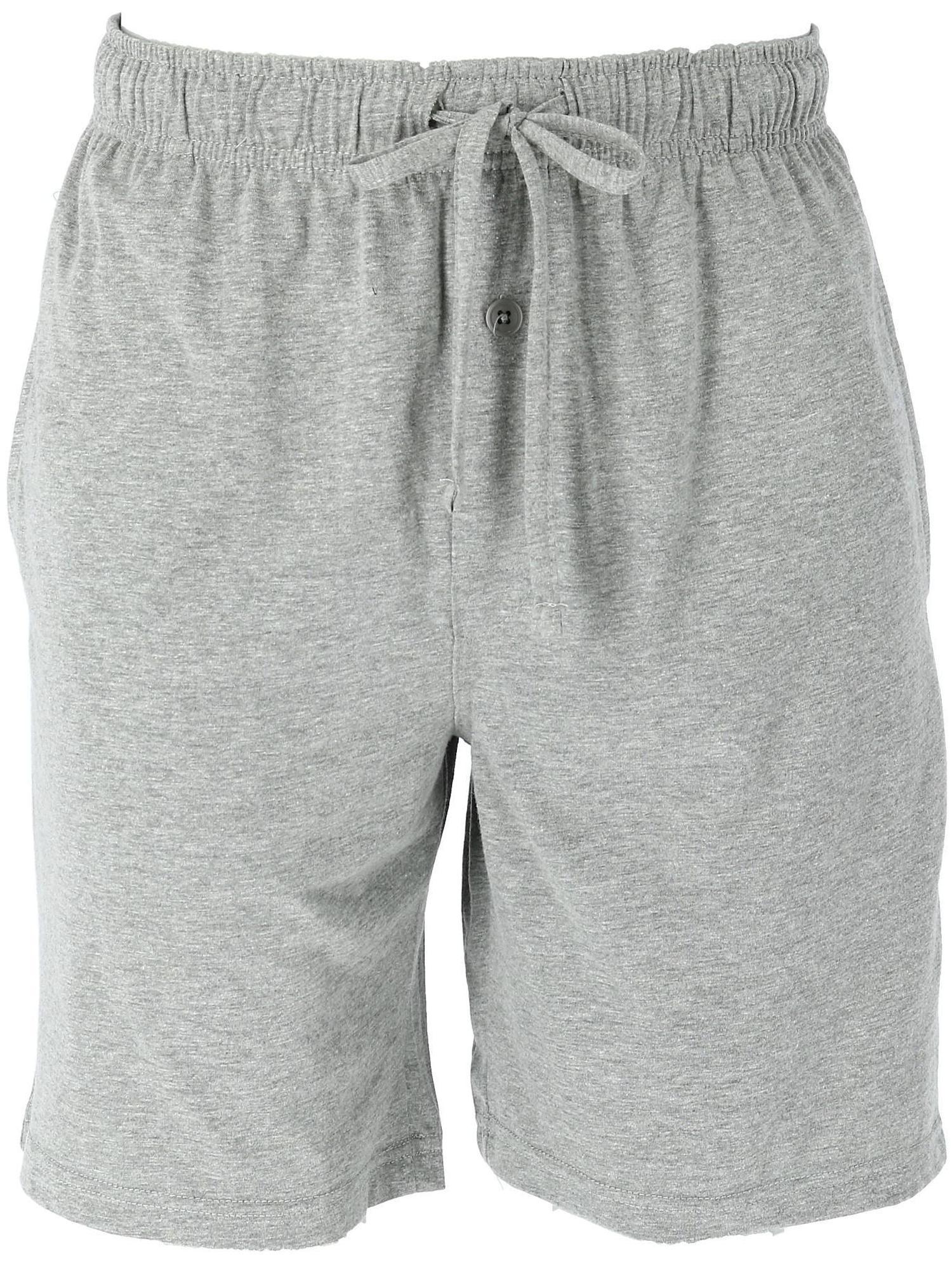 Men's Big and Tall Solid Knit Sleep Shorts