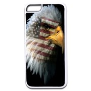 Patriotic Bald Eagle with American Flag Imprint Design White Rubber Case for the Apple iPhone 6 Plus / iPhone 6s Plus - Apple iPhone 6 Plus Accessories -iPhone 6s Plus Accessories