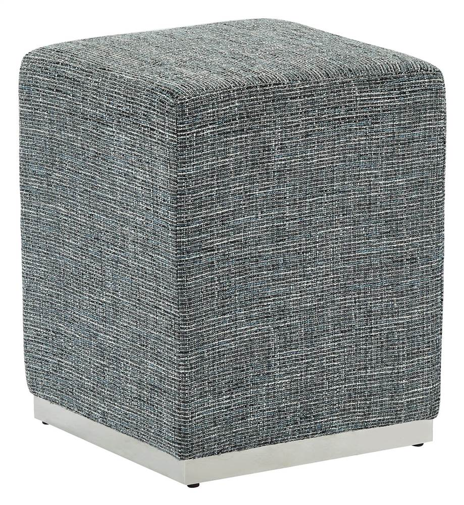 !nspire Square Ottoman with Gold Base
