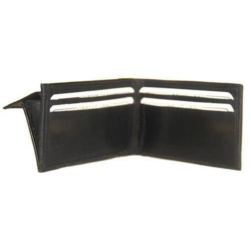 Genuine Leather Children Bifold Wallet Kids 87 (C) Brown