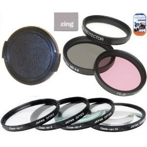 62mm Multi-Coated 7 Piece Filter Set Includes 3 PC Filter Kit (UV-CPL-FLD-) And 4 PC Close Up Filter Set (+1+2+4+10) For Sony AF D 50mm f/2.8 Macro Autofocus Lens + Lens Cap + Cap Keeper + -  Big Mike's
