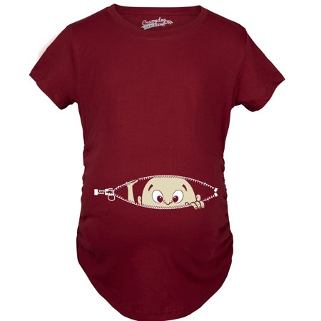 Crazy Dog Tshirts Maternity Baby Peeking Shirt Funny