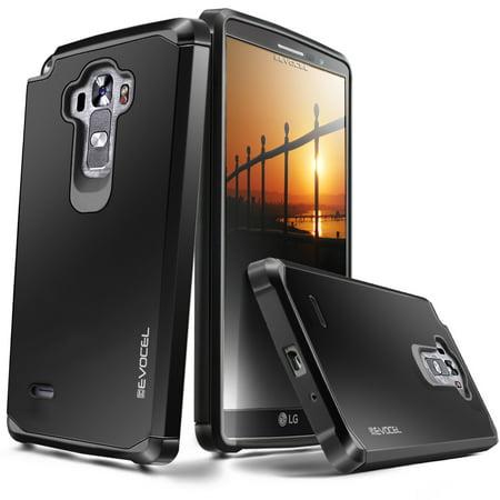 LG G Vista 2 Case, Evocel [Lightweight] [Slim Profile] [Dual Layer] [Smooth Finish] [Raised Lip] Armure Series Phone Case for LG G Vista 2 (2015 Release), Black (Phone Cases Lg Vista Cowboy)