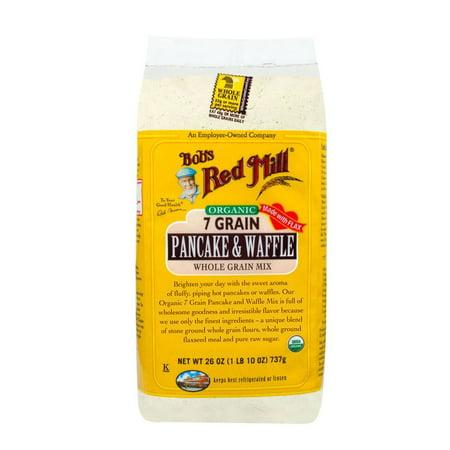 Bobs Red Mill 7 Grain Pancake & Waffle, Organic, 26 Oz