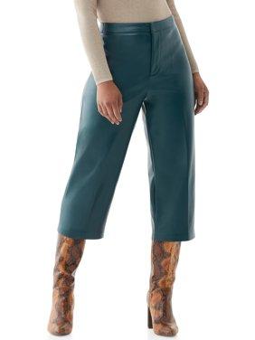 Scoop Women's Vegan Faux Leather Culottes