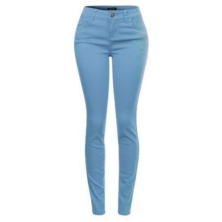 Made by Olivia Women's Butt Lift Super Comfy Stretch Denim Skinny Yoga Jeans Lightblue