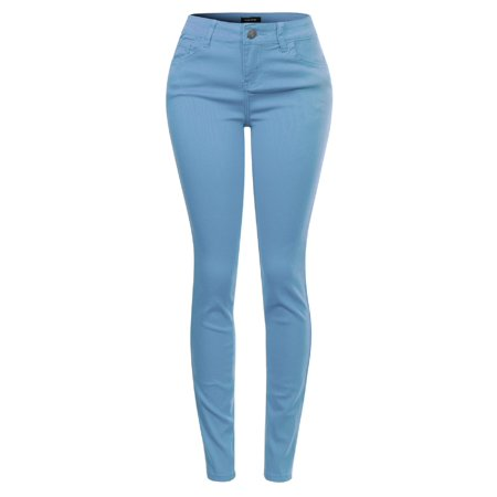 Made by Olivia Women's Butt Lift Super Comfy Stretch Denim Skinny Yoga Jeans Lightblue (Best Jeans To Lift Buttocks)