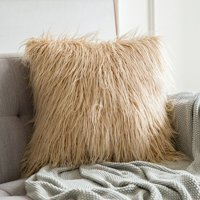 45 cm x 45 cm Super Soft Plush Life Covers For Pillows Winter Square Solid Color Faux Fur Blankets And Blanket Covers