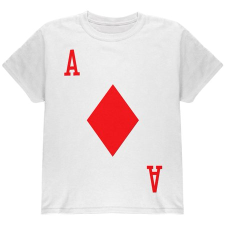 Halloween Ace of Diamonds Card Soldier Costume All Over Youth T Shirt (Halloween King Diamond Mp3)