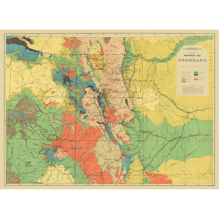 Old Topographical Map Print   Colorado Colorado Geological   Usgs 1881   23 X 31 52