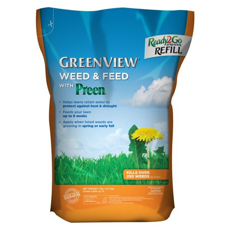 GreenView Weed & Feed with Preen, 7 lb. bag Covers 2,500 sq (Weed And Feed For St Augustine Grass)