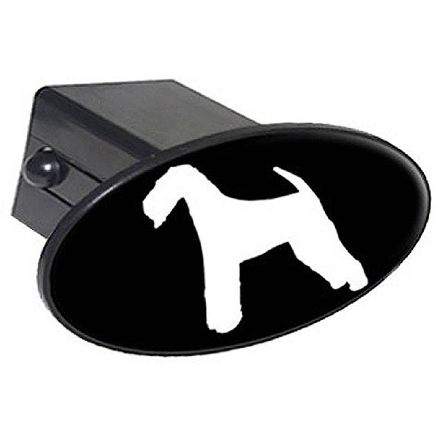 """Airedale Dog 2"""" Oval Tow Trailer Hitch Cover Plug Insert by Graphics and More"""