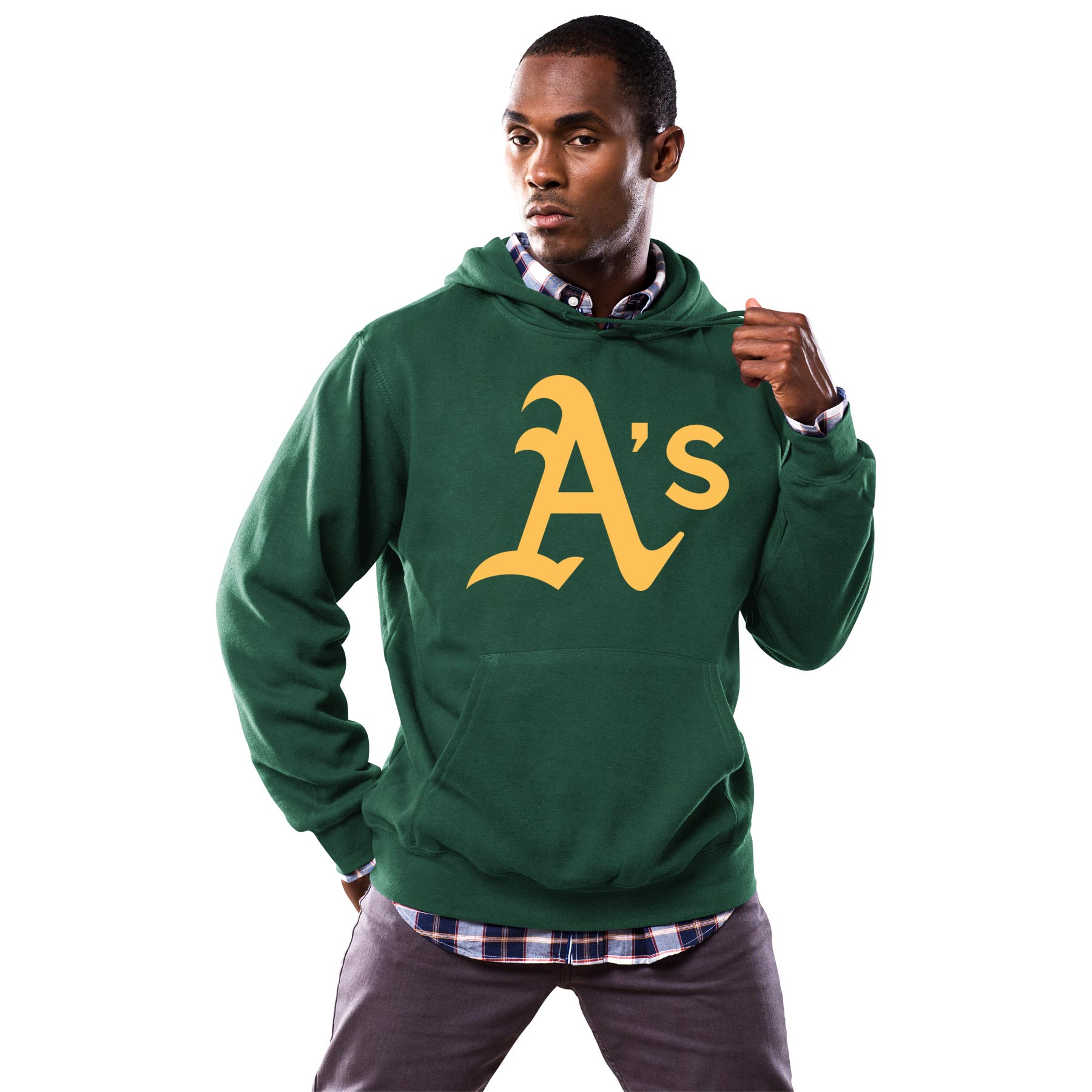 Oakland Athletics Majestic Scoring Position Hoodie - Green