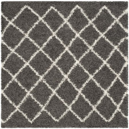 Safavieh Dallas Shag 3' X 5' Power Loomed Rug in Dark Gray and Ivory - image 9 de 10