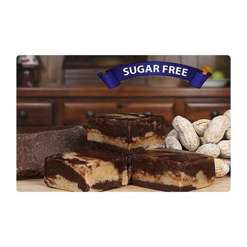 Sugar-Free Chocolate Peanut Butter Fudge