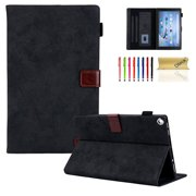 "Kindle Fire HD 8 Case - Dteck Folio PU Leather Smart Case Cover with Auto Wake/Sleep & Card Slots, for All-New Kindle Fire HD 8"" (8th Generation 2018 /6th Generation 2016/7th Generation 2017), Black"