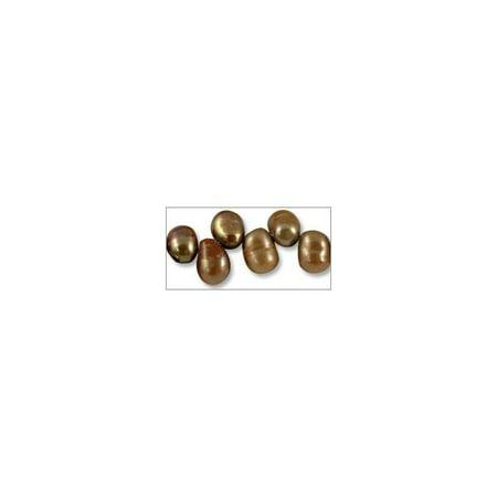 Freshwater Potato Pearl Baroque Nuggets Copper Mix 8-9mm (16
