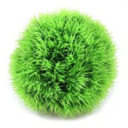 "4.7"" Dia Artificial Underwater Grass Ball Plant Decor Green for Fish Tank"