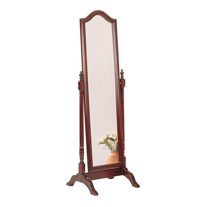 Coaster Cheval Mirror, Brown red Finish by Coaster Company