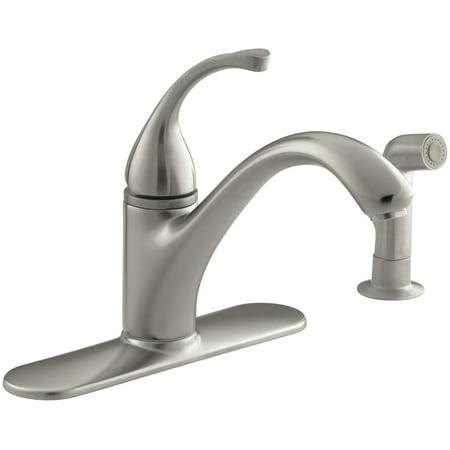Kohler K-10412 Forte Single Handle Kitchen Faucet - Nickel