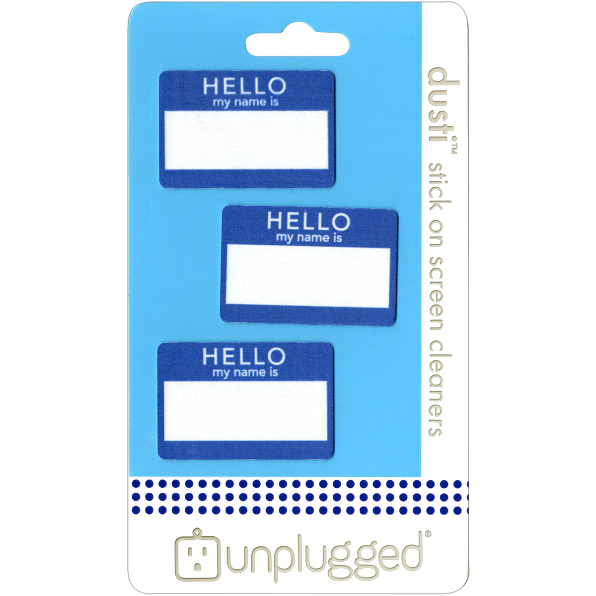 Dusti Reusable Screen Cleaner 3/Pkg-Hello