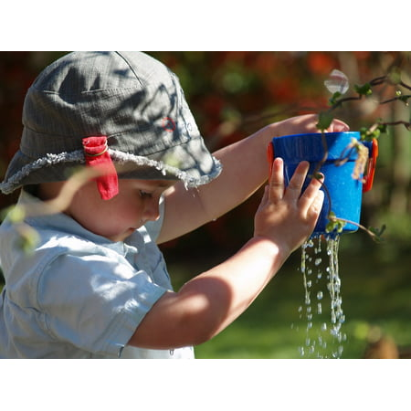- Canvas Print Leaking Water Bucket Child Small Child Drip Play Stretched Canvas 10 x 14