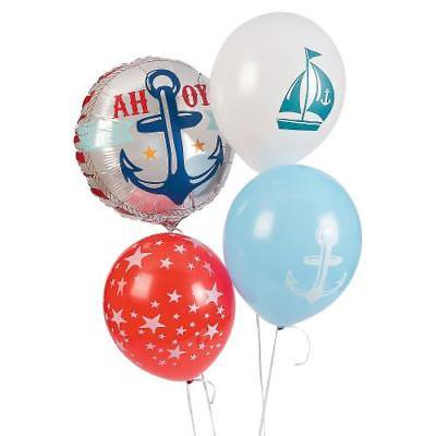 IN-13687996 Nautical Baby Shower Balloon Set Assortment for $<!---->