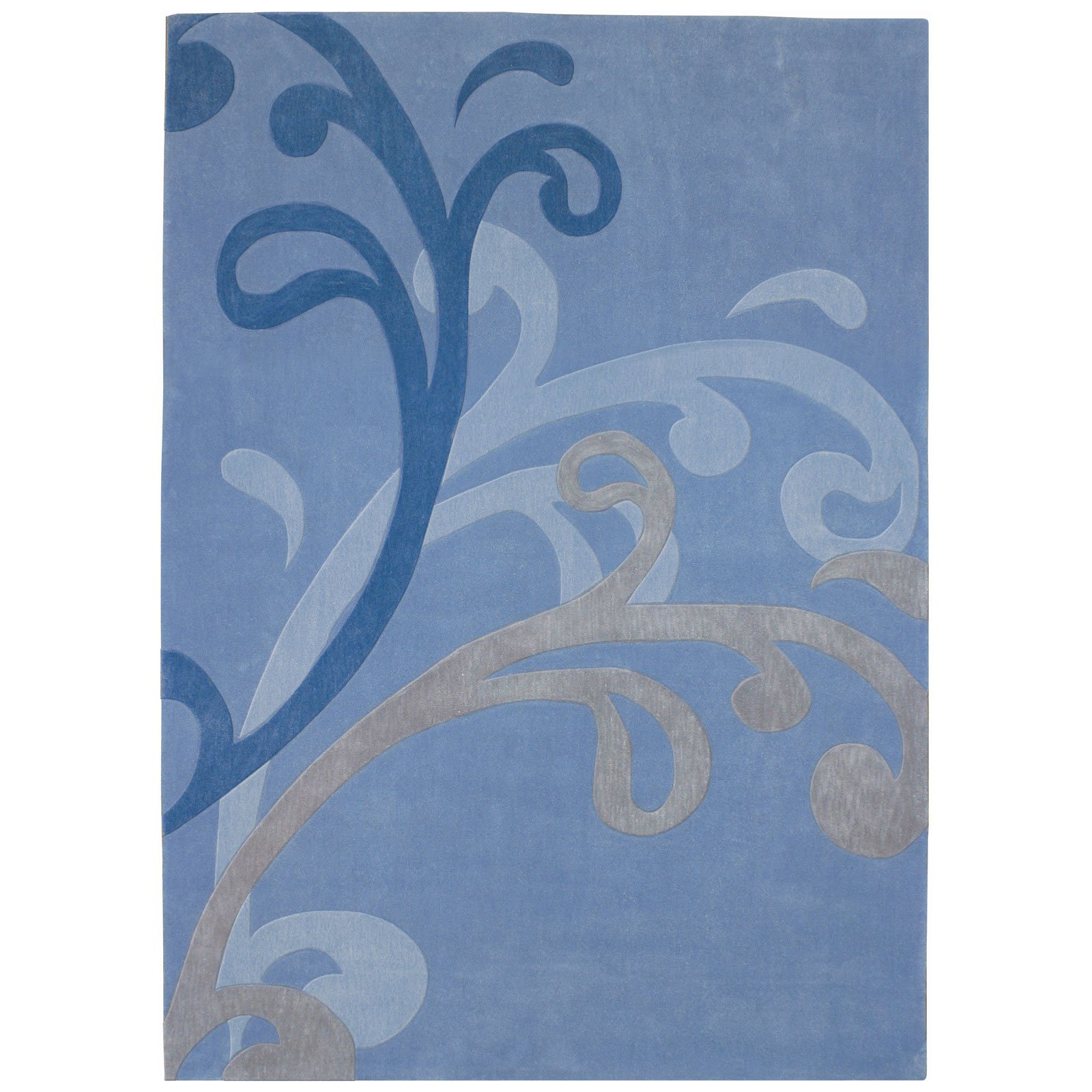 Dynamic Rugs Mystique Wave 2214 Rug - Blue-5.3 x 7.7 ft.