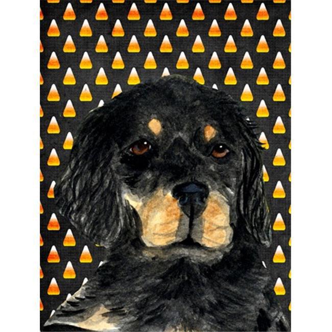 11 x 15 in. Gordon Setter Candy Corn Halloween Portrait Garden Size Flag - image 1 of 1