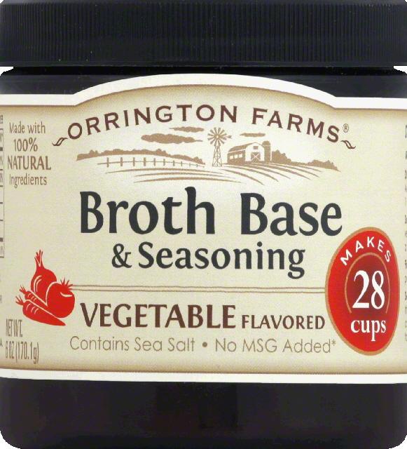 Orrington Farms Broth Base & Seasoning, Vegetable Flavored