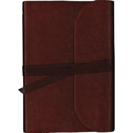KJV, Journal the Word Bible, Large Print, Premium Leather, Brown, Red Letter Edition : Reflect, Journal, or Create Art Next to Your Favorite