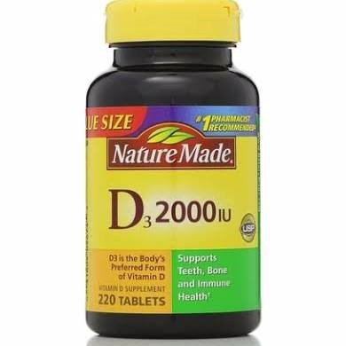 Nature Made Vitamin D3 Tablets, 2000IU, 220Ct (Natures Made Vitamin D)