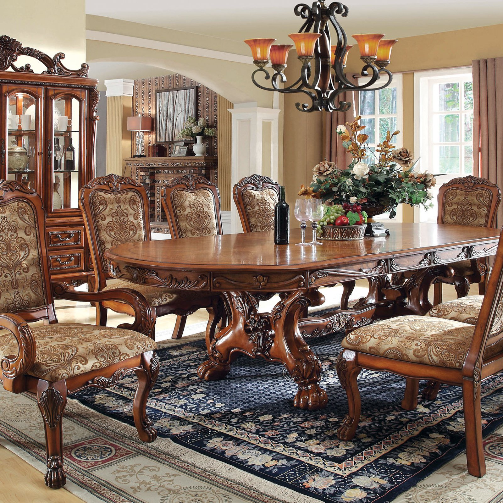 Furniture of America Evangeline Trestle Dining Table