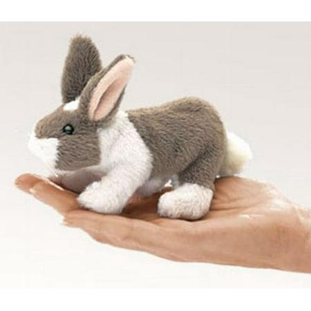 Folkmanis Mini Bunny Rabbit Finger Puppet - (Bunny Puppet Craft)