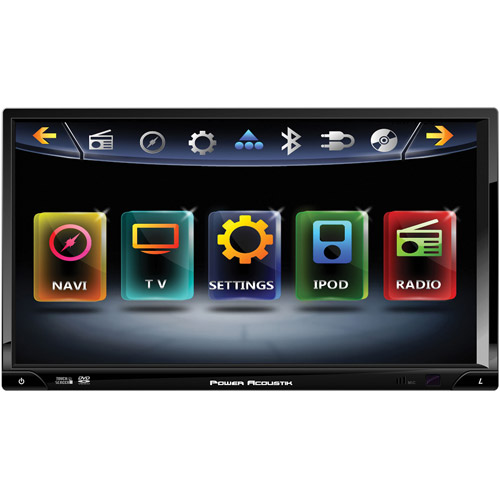 """POWER ACOUSTIK PD-769NB 7"""" Inteq Double-DIN In-Dash Multimedia Receiver with DVD Player & Bluetooth(R)"""