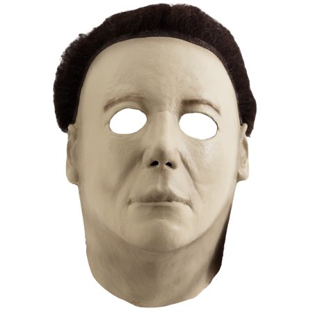 Miamax Halloween H20 Michael Myers Deluxe Full Head Mask, Beige, One-Size](Michael Myers Halloween 8 Mask)