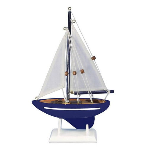 Handcrafted Nautical Decor Gone Sailing Model Sailboat by Handcrafted Nautical Decor