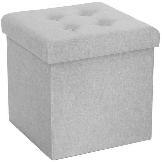 Awesome Seville Classics Foldable Tufted Storage Cube Ottoman Creativecarmelina Interior Chair Design Creativecarmelinacom