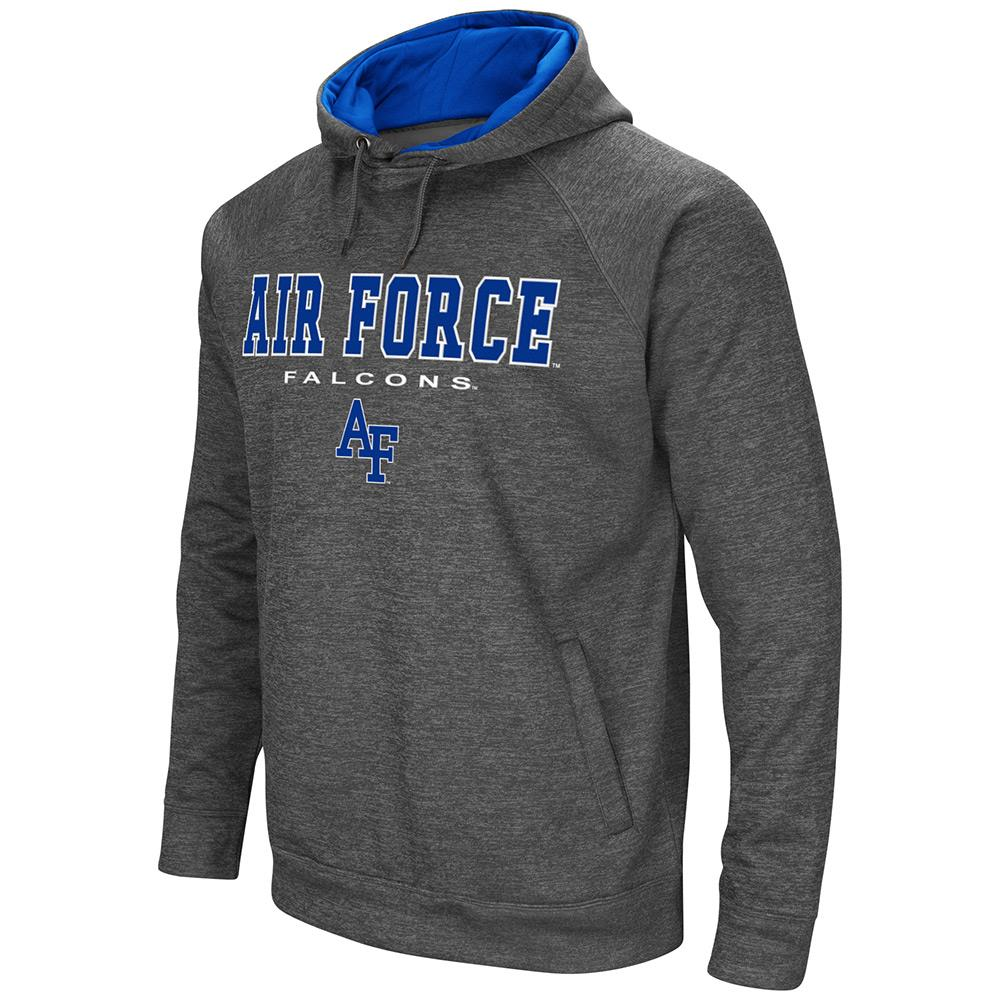 Mens NCAA Air Force Falcons Heather Charcoal Pull-over Hoodie by Colosseum