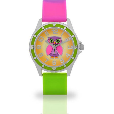 Tween Owl Printed Face watch, Multicolor Band