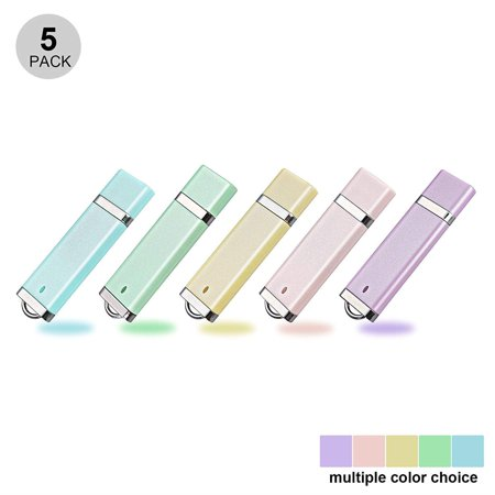 KOOTION 5Pack 1GB Enamel USB 2.0 Flash Drive Thumb Drives Memory Stick - 5 Colors (Blue, Green, Pink, Purple, Yellow)