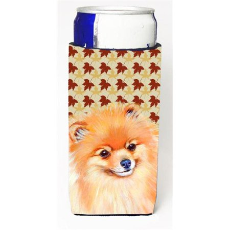 Pomeranian Fall Leaves Portrait Michelob Ultra s For Slim Cans - 12 oz. - image 1 de 1