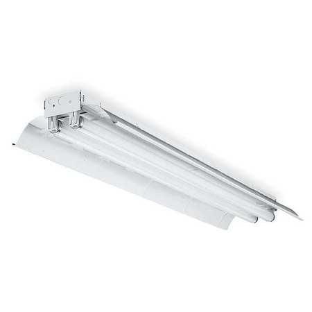 Lithonia 4 ft. 2-Light Standard Industrial White Fluorescent Hooded Strip Light