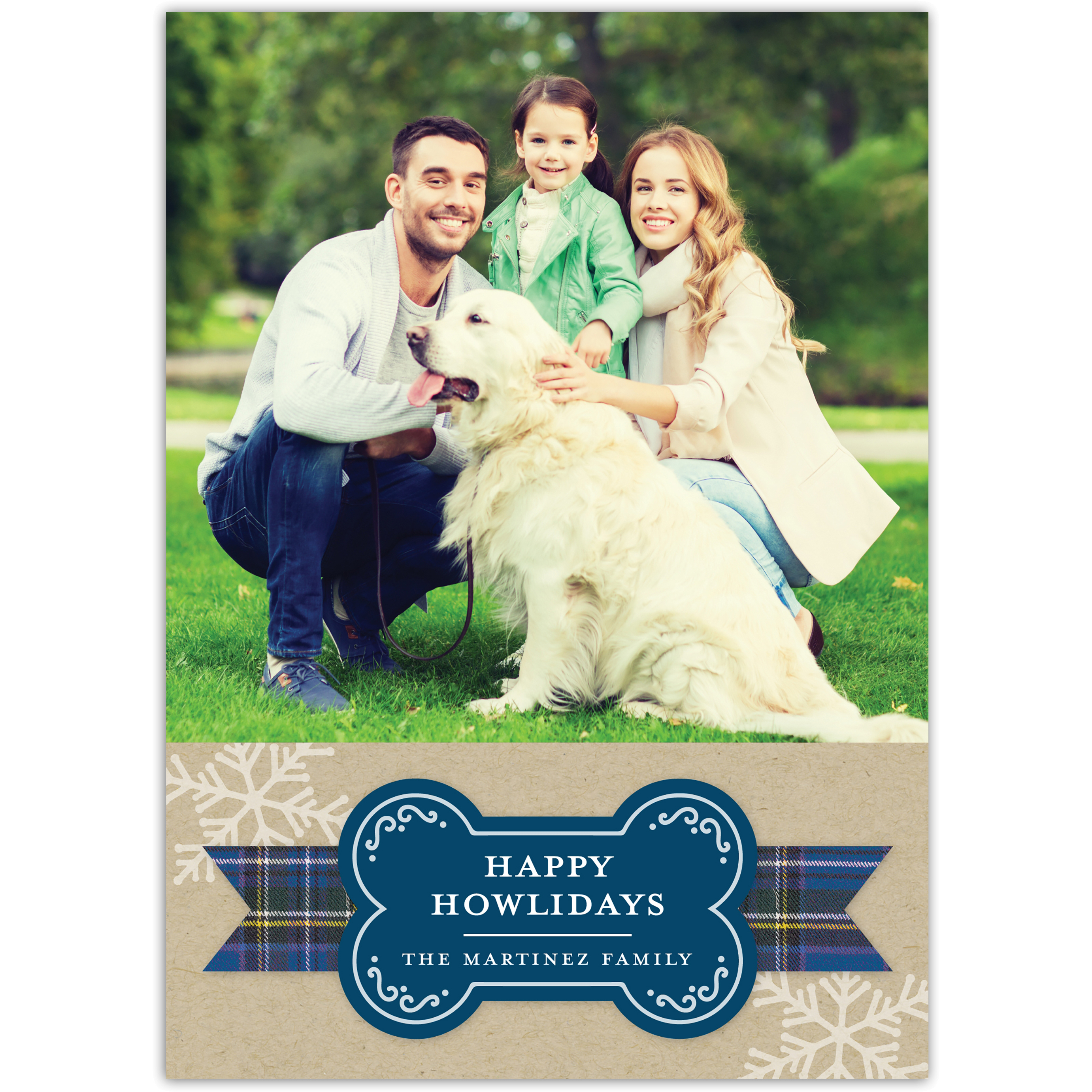 Happy Howl-idays - 5x7 Personalized Pet Holiday Card